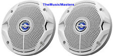 "2X JBL Boat Marine Audio White 6.5"" inch 2-Way Stereo Speakers 6-1/2"" MS6520"