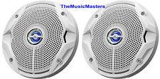 Pair White Waterproof High Quality Boat Marine TWEETERS Stereo Audio Speakers