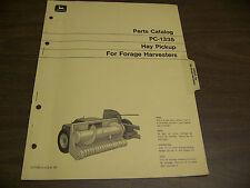12079 John Deere Parts Catalog Pc-1335 Harvester Forage Hay pickup dated jun 72