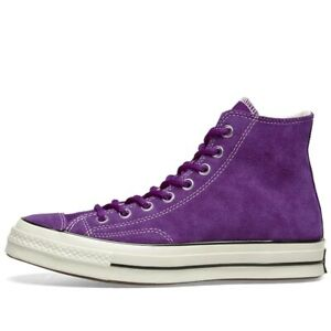 Converse Unisex Chuck Taylor All Star Chuck 70s Hi Basecamp Suede Purple Trainer