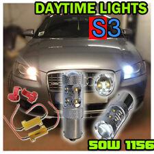 2x S3 DRL LED Bombillas 50 W Blanco Canbus Libre De Errores Cree P21W 382 BA15s 1156