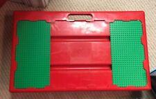 Lego Vintage Lap Desk Play Table Sliding Baseplates Red Green Storage Travel EUC