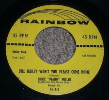 Bill Bailey Won't You Please Come Home Eddie Piano Miller~RARE Honky-Tonk Jazz
