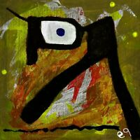 i walks and walks but never gets no where e9Art 4x4 Abstract Figurative Outsider