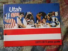 1972-73 UTAH STARS MEDIA GUIDE Yearbook ABA Basketball Press Book 1973 Ut AD