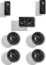 Polk 7.0 Surround System: Pair of 265rt, One 255crt In-wall Front, 2pairs 80F/Xr