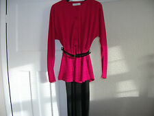LADIES PEPLUM DRESS, LONG SLEEVES SIZE 12 LONG LENGTH.  GREATLY REDUCED IN PRICE