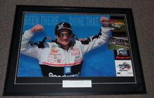 Dale Earnhardt Sr Signed Framed 29x39 Daytona Poster Display JSA Fade to Black