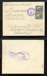 Nicaragua Postal History LOT #125 1920 10c MATAGALPA - MUNICH Forwarded $$$