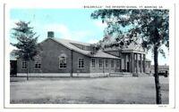 1931 Biglerville, The Infantry School, Fort Benning, GA Postcard