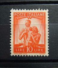 1948  ITALIA 10  lire Arancio  Democratica  MNH   Sass  559