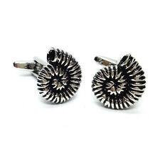 Detailed Fossilied Ammonite CUFFLINKS Fossil Collector Hunter Birthday Present