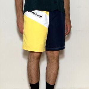 Tommy Hilfiger Yellow Navy Color Block Swim Shorts  Sz M