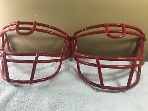 (3) VTG Schutt Football Helmet Facemask Patriots Badgers Scarlett Red ROPO-UB