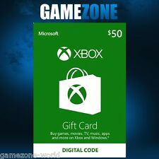 Xbox live 50 $usa carte cadeau points usd dollars pour microsoft xbox 360/xbox one