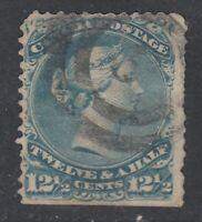 "Canada ""LONDON CANCEL"" Scott #28  12 1/2 cent blue ""Large Queen"""