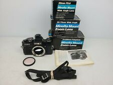 Vintage Minolta Model X-570 SLR Camera With 3 Toyo Optics Lens