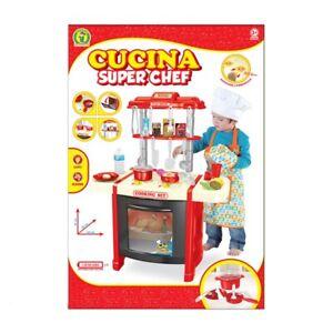 Cucina per Bimbe Super Chef con più 20 accessori Inclusi, Luci e Suoni, Età 3+