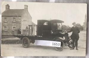 c1920 Skelton Penrith John Watson Milk Ford Delivery Lorry RP Postcard