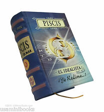 """signo Piscis new collectible small 2.65"""" tall book easy to read in spanish"""