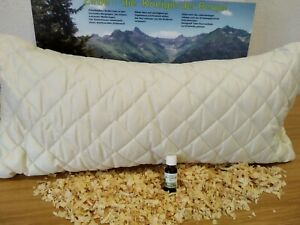 Zirbelkissen Zirbe + 20 ml Zirbeöl Schlafkissen 40/80 cm Natur-Zirbenholzspäne