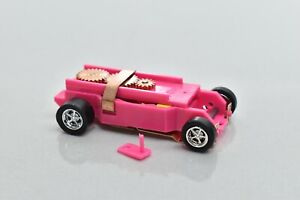 Pink DASH T-JET SLOT CAR CHASSIS