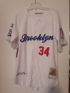 Brooklyn Royal Giants Negro League White Button Down Jersey Licensed Size L #34