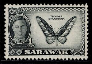 SARAWAK GVI SG171, 1c black, NH MINT.