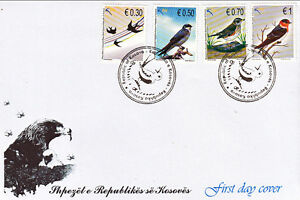 Kosovo Stamps 2010. Birds. FDC Set MNH.