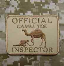 OFFICIAL CAMEL TOE INSPECTOR TACTICAL DESERT BADGE PATCH VELCRO® BRAND FASTENER