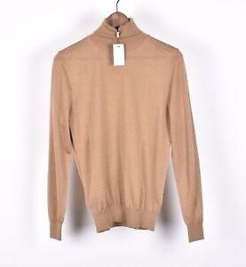 New Suit Supply Turtle Neck Merino Wool Men Top Sweater Size XS