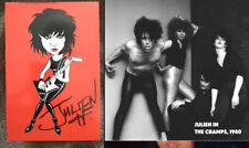 RARE SIGNED AUTOGRAPHED THE CRAMPS / THE MAD POSTCARD - JULIEN H. GRINDSNATCH