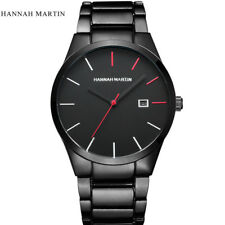 Luxury Mens Stainless Steel Band Formal Watches Date Analog Quartz Wrist Watch A