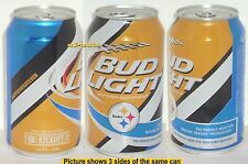2015 PITTSBURGH STEELERS NFL KICKOFF BUD LIGHT BEER CAN TEAM SPORTS FAN FOOTBALL