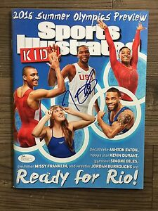 KEVIN DURANT (Olympics) signed Sports Illustrated for Kids magazine ~~ JSA/COA
