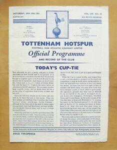 1897-98 Tottenham Hotspur v Woolwich Arsenal United League Matchsheet