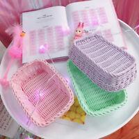 Small Plastic MINI Cute Kitchen Bathroom Storage Basket Box Organiser Container