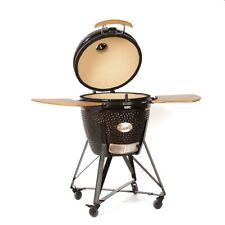 """YNNI 25"""" Grey XL Chip Feeder Kamado Bundle Oven BBQ Grill Extra incTrolley TQ0TT"""