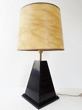 MAGNIFIQUE & CHIC LAMPE DE TABLE PYRAMIDE NOIRE 1970 VINTAGE 70's 70S ANNEES 70