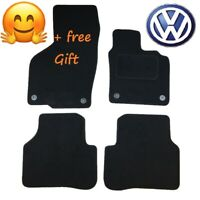 Quality Tailored to Fit Black Car Floor Mats Carpets for VW Passat B6 B7 2013