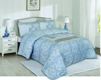 100% Cotton Duvet Cover Set, 300TC Bedding Set With Pillow Cases & bed Sheet