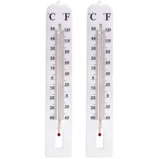 More details for 2x large thermometer 40cm long easy read indoor/outdoor garden temperature gauge