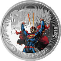 "2015 ROYAL CANADIAN MINT ""ICONIC SUPERMAN"" $20 FINE SILVER COIN"
