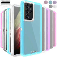 For Samsung Galaxy S21 S21+Ultra 5G Hard Transparent Clear Rugged Defender Case