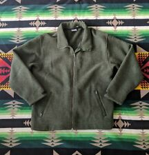 Ibex Usa 100% New Wool Thick Heavy Jacket Sweater Coat Olive Green Mens L