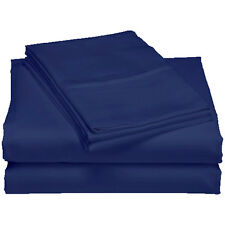 500TC Egyptian Cotton Sheet Set(Flat,Fitted,Pillowcase) Queen size - Navy