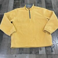 IZOD Mens Pullover Golfing Jacket Extra Large Outdoor Yellow Long Sleeve