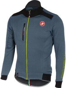 NEW Castelli Potenza Men's Cycling Jersey Blue / Gray Small Polartec 199$ MSRP