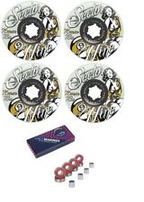 Sector 9 Goddess of Speed 76mm 78a Longboard Wheels Ghost/Yellow + Cal 7 Bearing