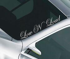Parabrisas calcomanía * baja N Alto * Funny Vinilo Auto Adhesivo window/body 46